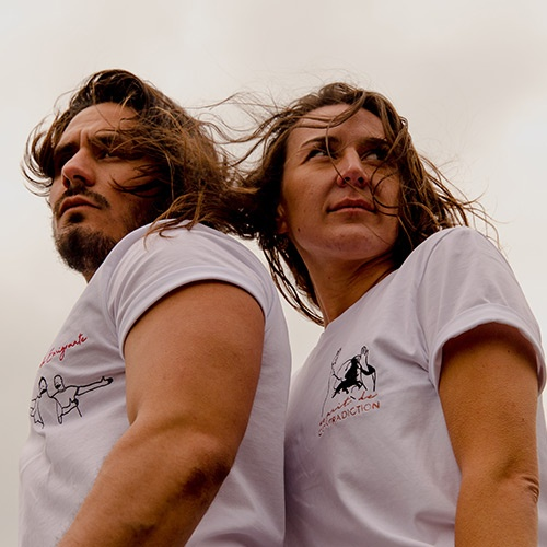 Coco et Germi t-shirt-blanc